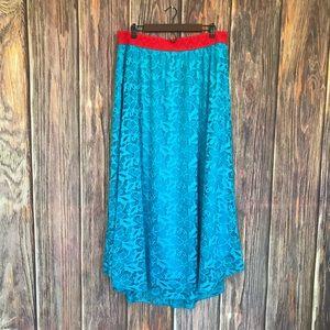 LuLaRoe Crochet Maxi Skirt